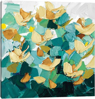 Gold and Teal Dream Canvas Art Print