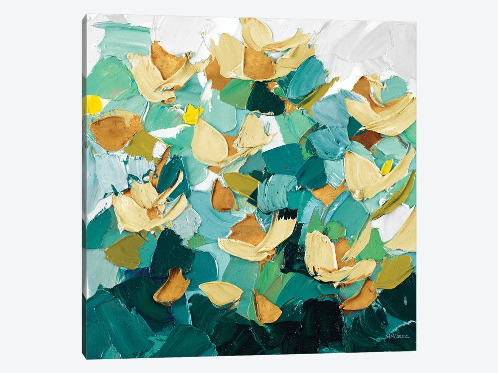 Gold and Teal Dream by Ann Marie Coolick 1-piece Canvas Art