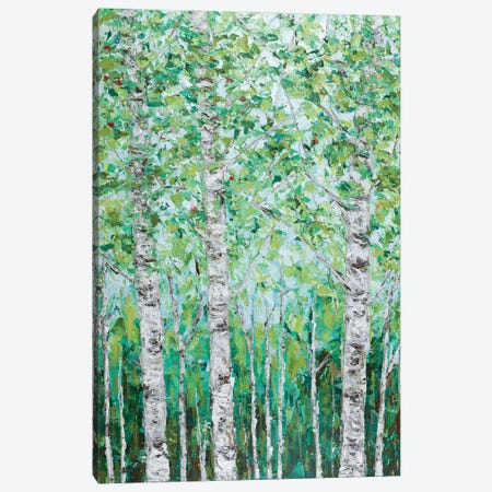 Green Birchwood I Canvas Print #CLK64} by Ann Marie Coolick Art Print
