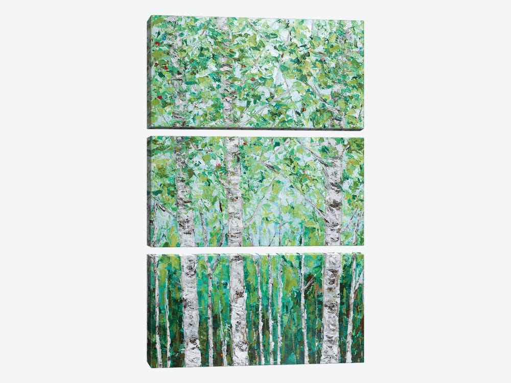 Green Birchwood I by Ann Marie Coolick 3-piece Art Print