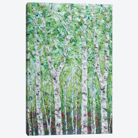 Green Birchwood II Canvas Print #CLK65} by Ann Marie Coolick Art Print
