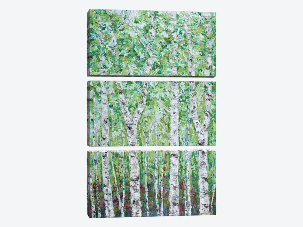 Green Birchwood II by Ann Marie Coolick 3-piece Canvas Wall Art