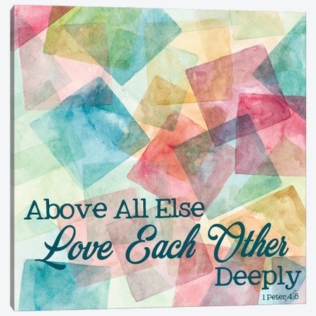 Love Each Other Deeply Canvas Print #CLK66} by Ann Marie Coolick Art Print