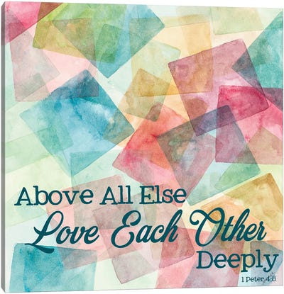 Love Each Other Deeply Canvas Art Print