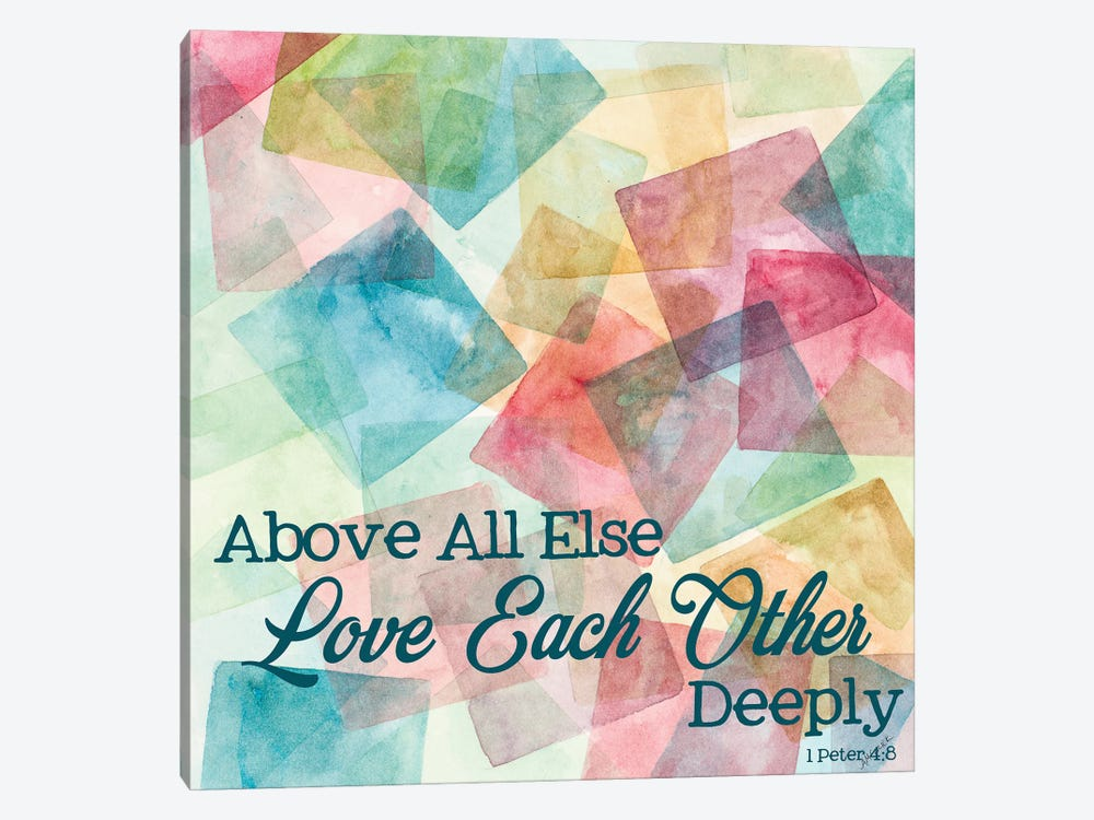 Love Each Other Deeply by Ann Marie Coolick 1-piece Canvas Print
