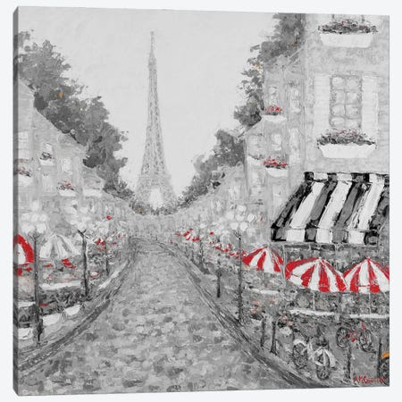 Splash of Red in Paris I Canvas Print #CLK72} by Ann Marie Coolick Canvas Print