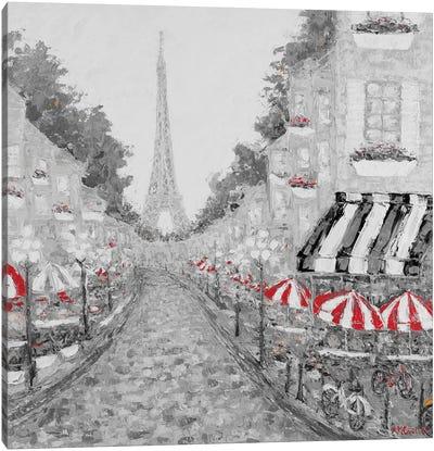 Splash of Red in Paris I Canvas Art Print