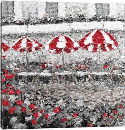 Splash of Red in Paris II Canvas Art Print