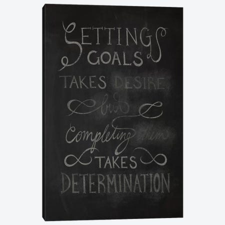 Completing Takes Determination Canvas Print #CLL11} by 5by5collective Canvas Wall Art