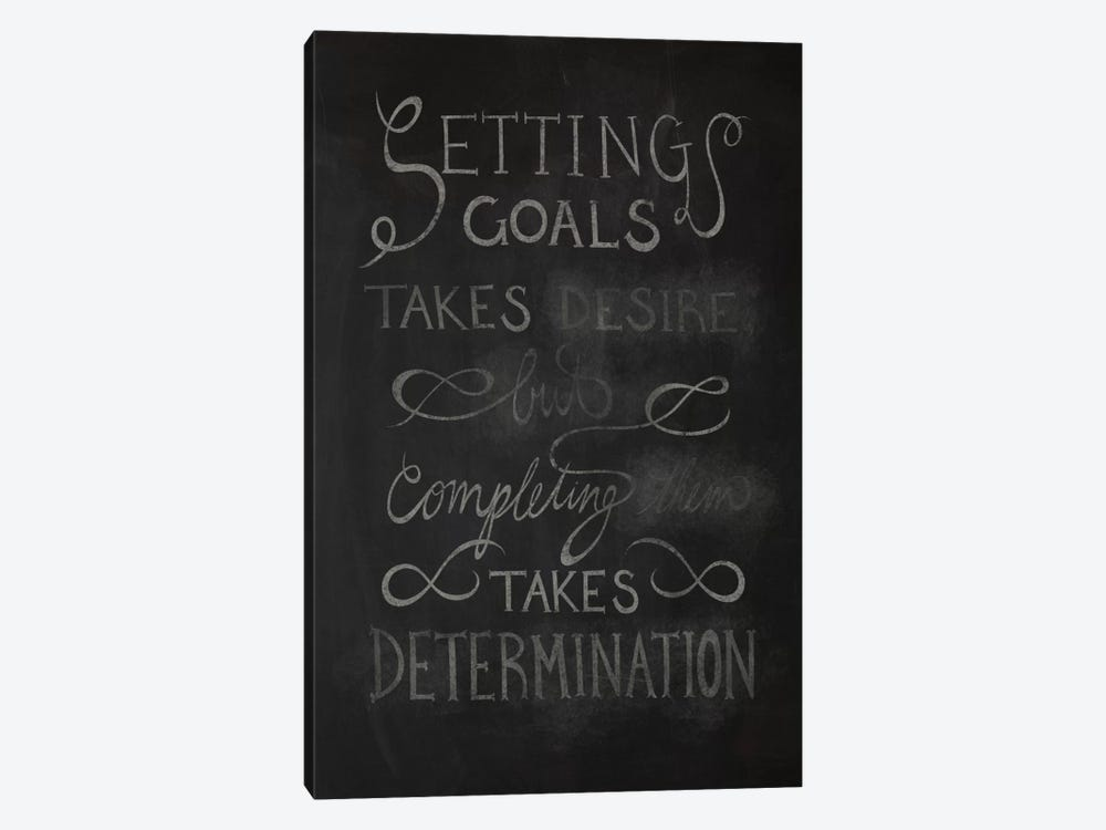 Completing Takes Determination by 5by5collective 1-piece Canvas Wall Art