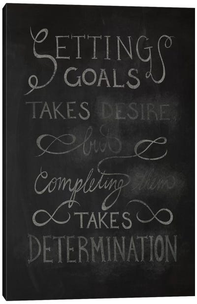 Completing Takes Determination Canvas Art Print
