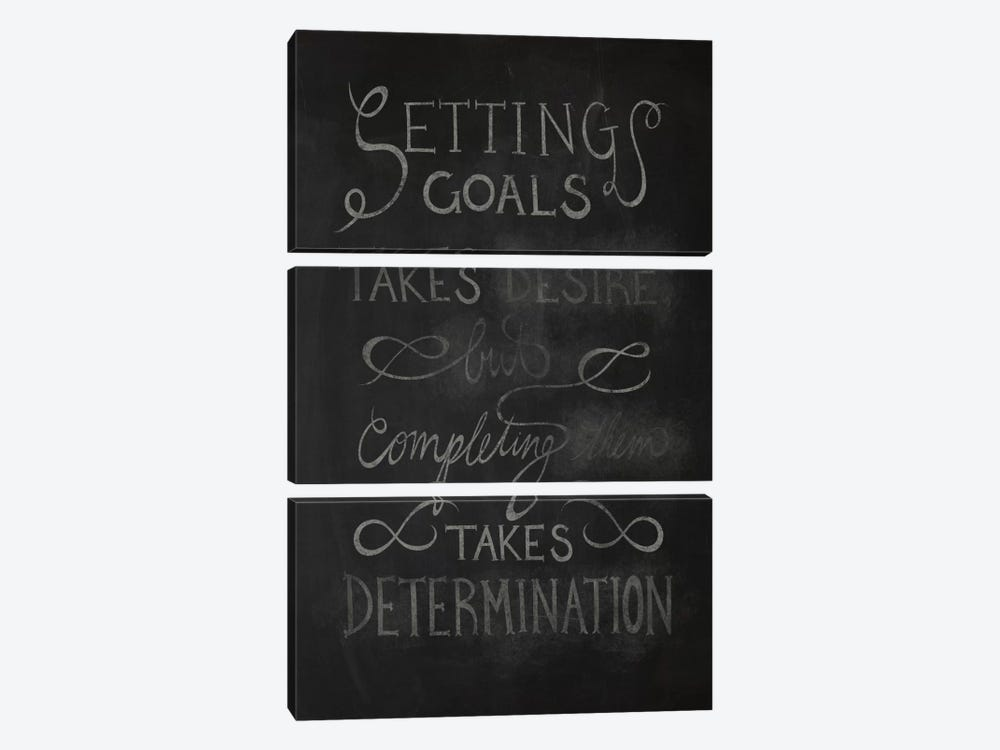 Completing Takes Determination by 5by5collective 3-piece Canvas Art