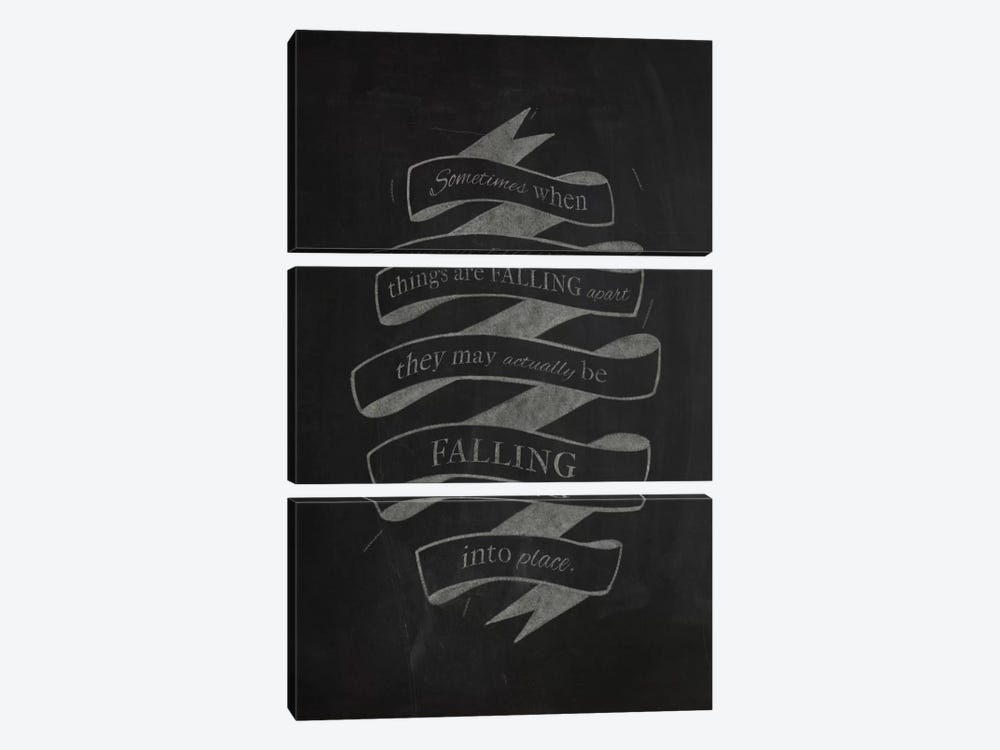 When Things Are Falling Apart by 5by5collective 3-piece Art Print