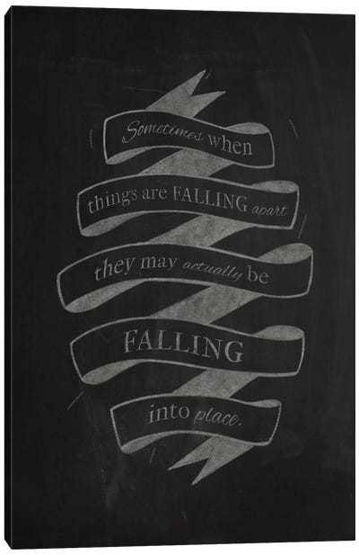 When Things Are Falling Apart Canvas Art Print