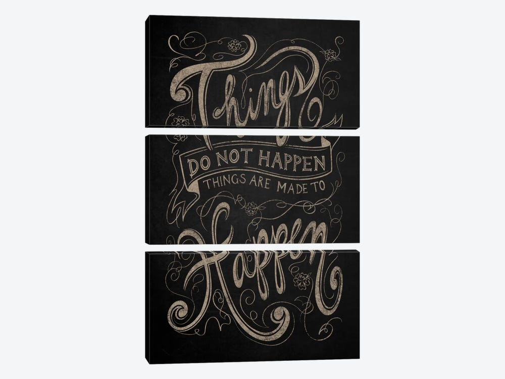 Things Do Not Happen by 5by5collective 3-piece Canvas Artwork