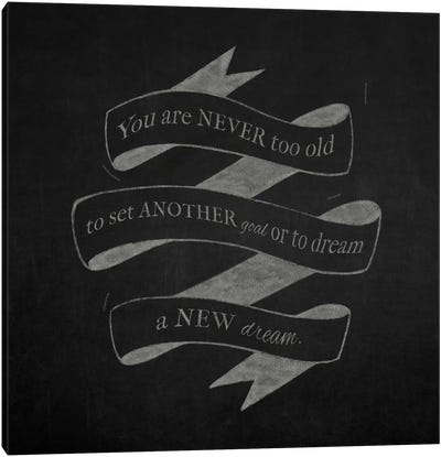 Never Too Old Canvas Art Print