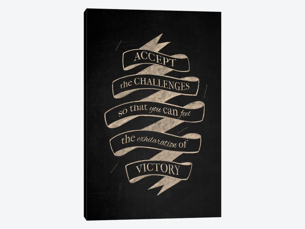 Accept Challenges by 5by5collective 1-piece Canvas Art Print