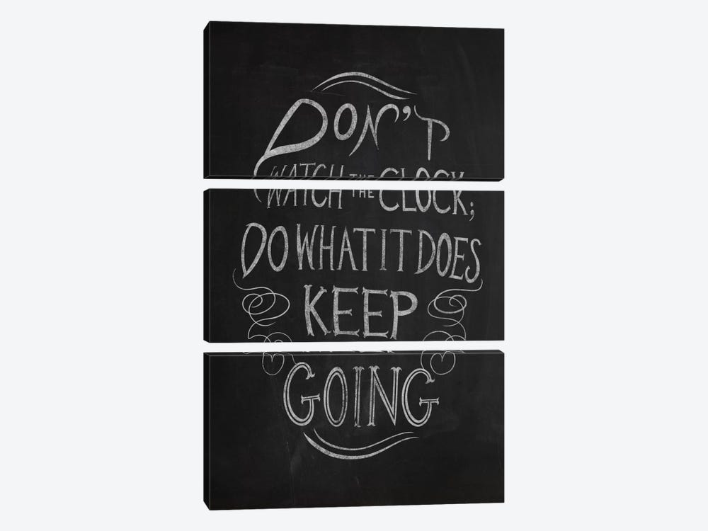 Don't Watch the Clock by 5by5collective 3-piece Canvas Art Print