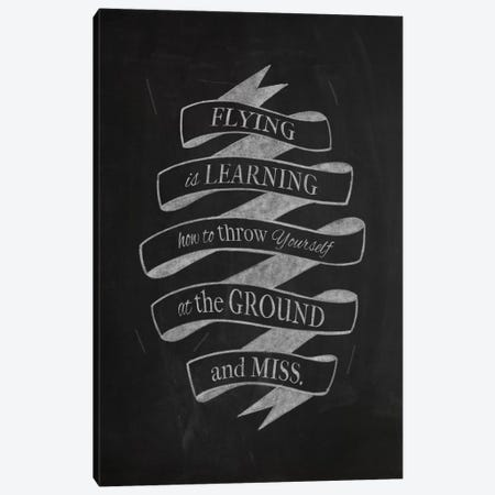 Flying Is Learning Canvas Print #CLL4} by 5by5collective Canvas Art