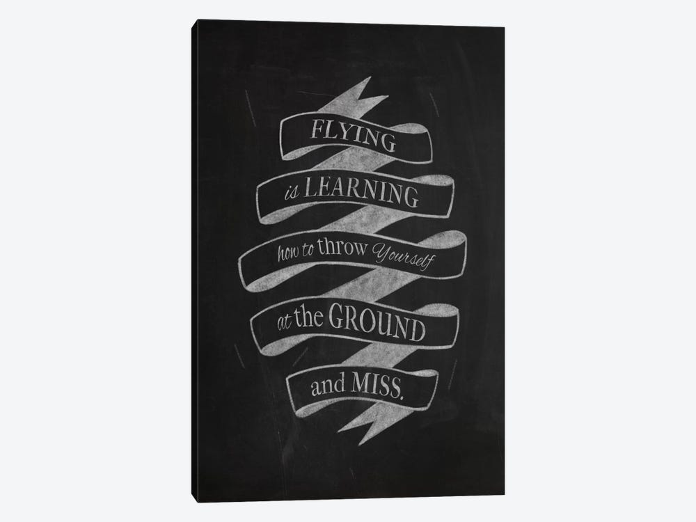 Flying Is Learning by 5by5collective 1-piece Canvas Print