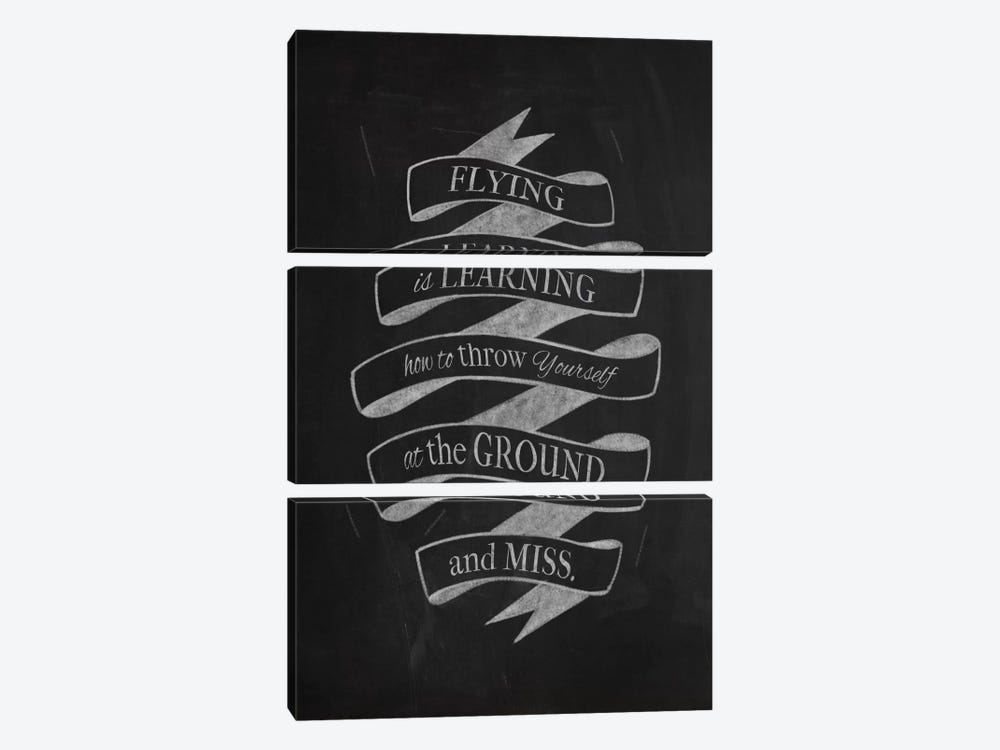 Flying Is Learning by 5by5collective 3-piece Art Print