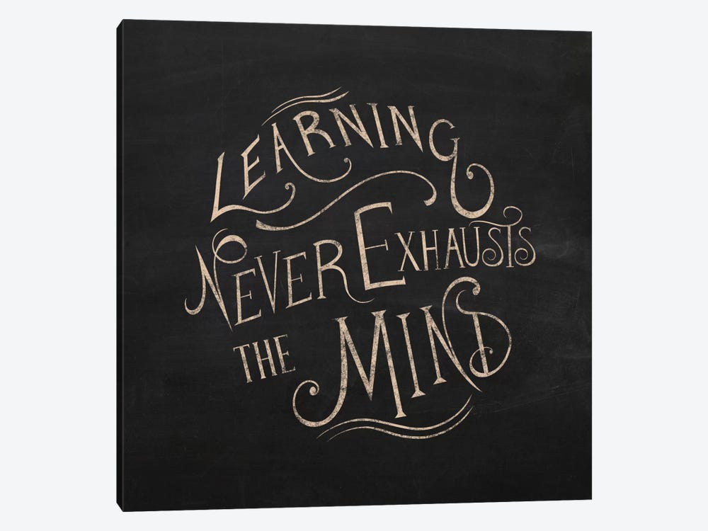 Learning Never Exhausts by 5by5collective 1-piece Canvas Artwork
