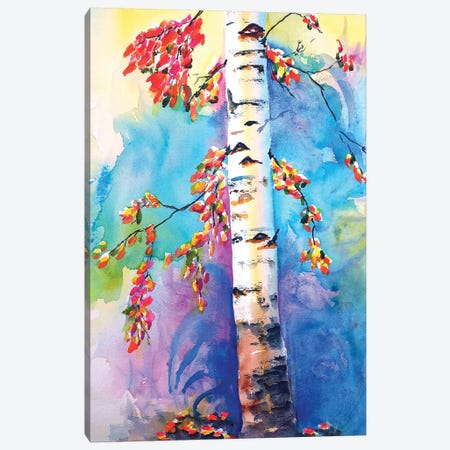 Colorful Birch Tree Canvas Print #CLN11} by Carlin Canvas Art