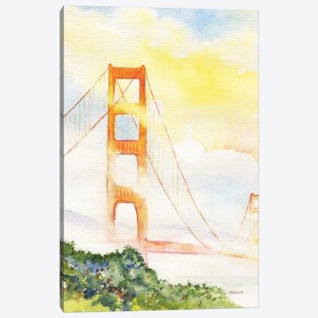 Golden Gate Towers In Fog Canvas Print #CLN19} by Carlin Canvas Artwork