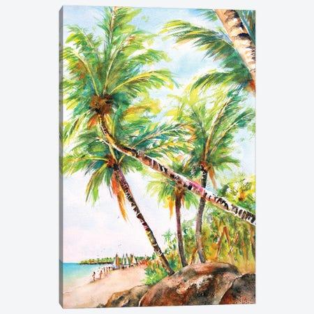 Beach Palm Trees Canvas Print #CLN3} by Carlin Canvas Print