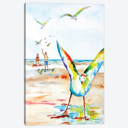 Happy Gulls Canvas Print #CLN49} by Carlin Canvas Art Print