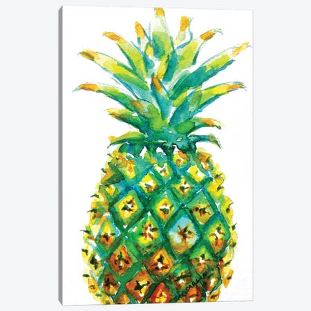 Pineapple Window To The Tropics Canvas Print #CLN51} by Carlin Canvas Art