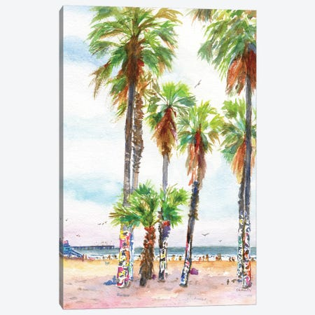 Socal Beach Art Canvas Print #CLN79} by Carlin Canvas Art