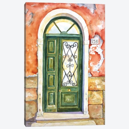 Venetian Door Canvas Print #CLN80} by Carlin Canvas Art Print