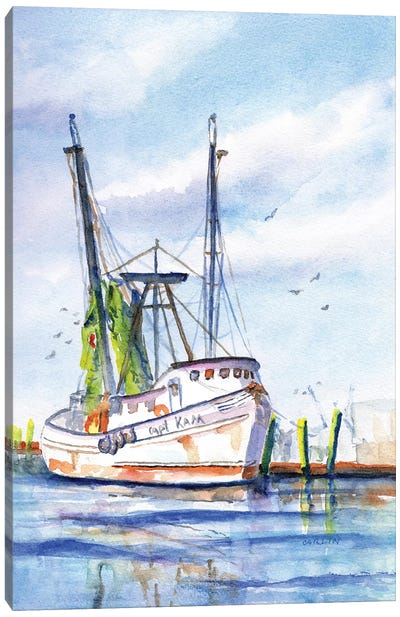 Trawler With Green Nets Canvas Art Print