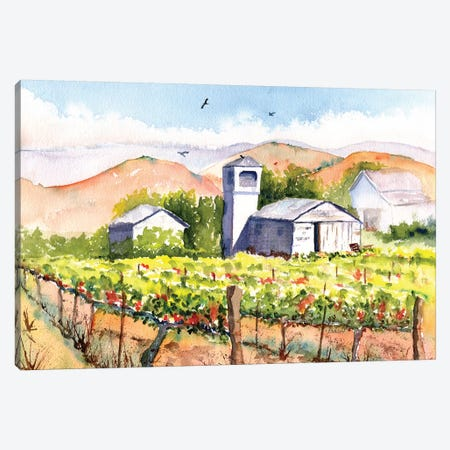 Vineyard Barns Canvas Print #CLN92} by Carlin Canvas Artwork