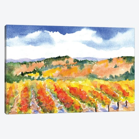 Wine Country Canvas Print #CLN98} by Carlin Canvas Art