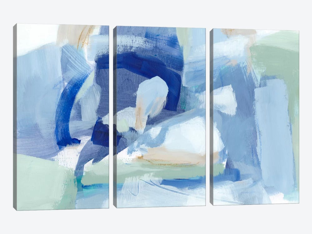 Blue Formation I by Christina Long 3-piece Canvas Art Print