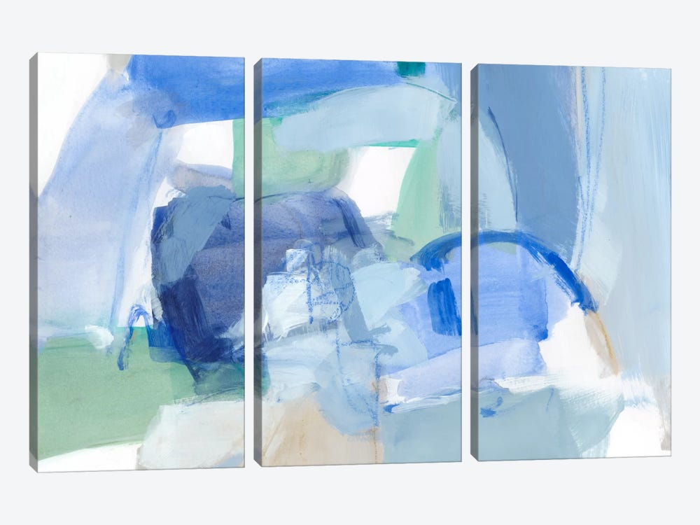 Blue Formation II by Christina Long 3-piece Canvas Art
