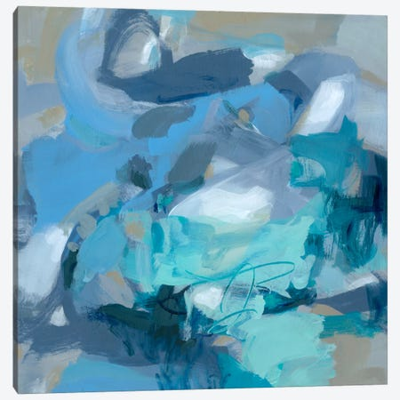 Abstract Blues I Canvas Print #CLO1} by Christina Long Canvas Wall Art