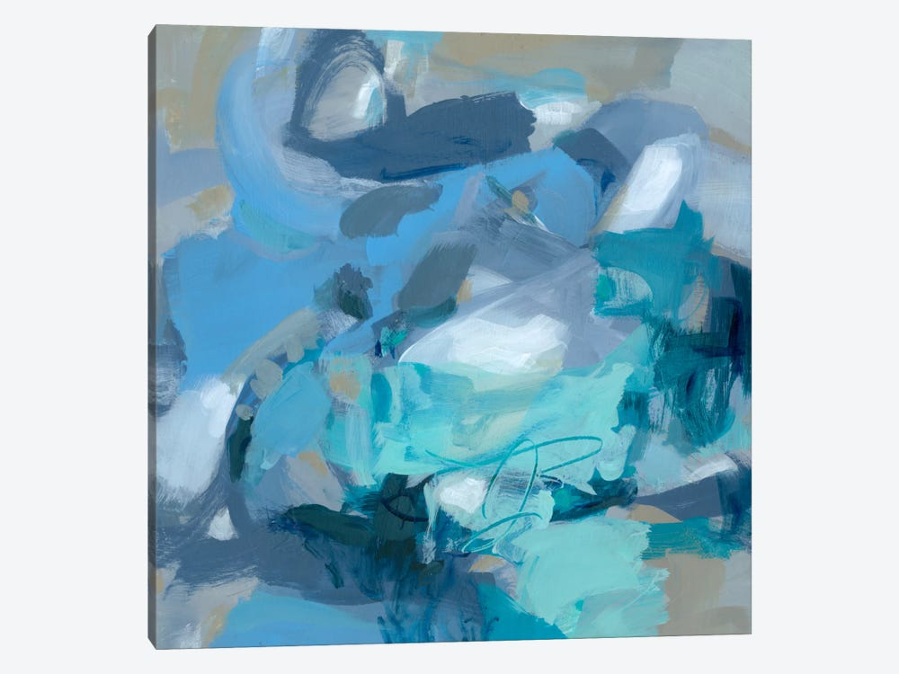 Abstract Blues I by Christina Long 1-piece Canvas Art Print