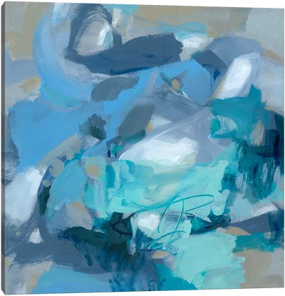 Abstract Blues I Canvas Art Print