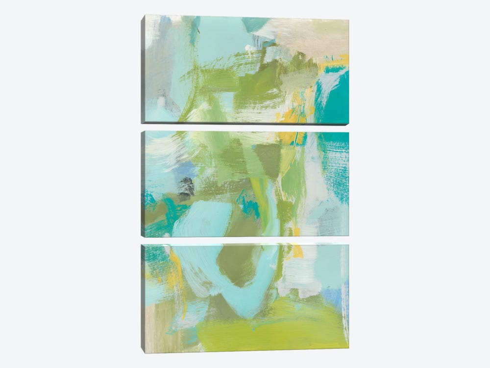 Sea Glass Abstraction I by Christina Long 3-piece Canvas Wall Art