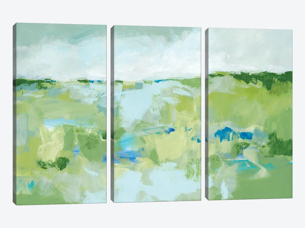 Spring Green I by Christina Long 3-piece Canvas Wall Art