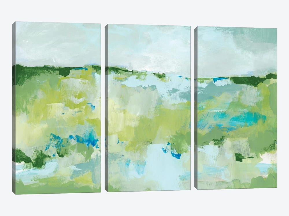 Spring Green II by Christina Long 3-piece Canvas Print