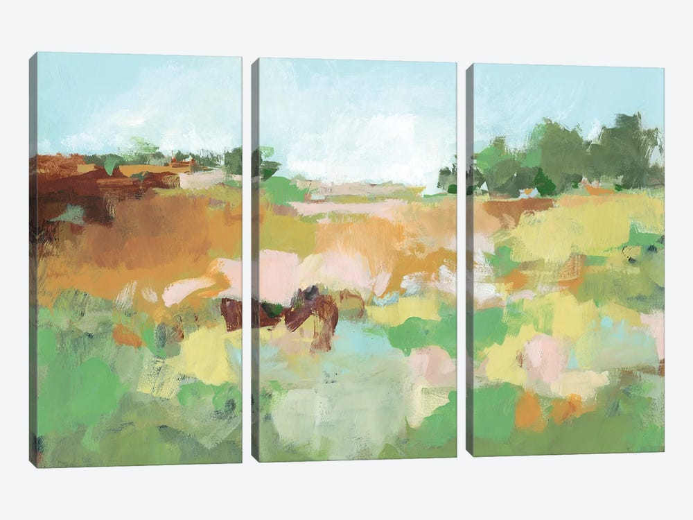 Summer Walk II by Christina Long 3-piece Canvas Art Print