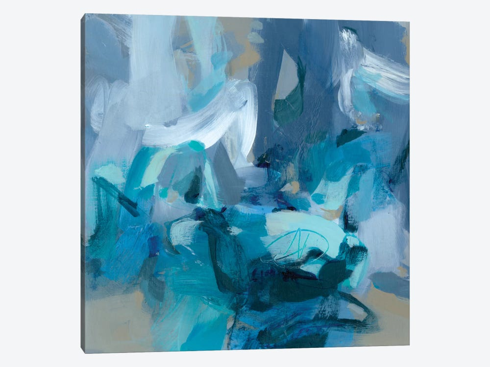 Abstract Blues II by Christina Long 1-piece Canvas Artwork