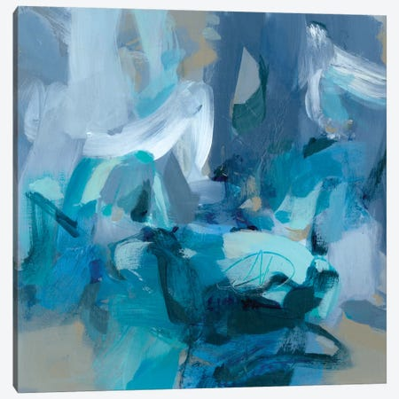 Abstract Blues II Canvas Print #CLO2} by Christina Long Canvas Art