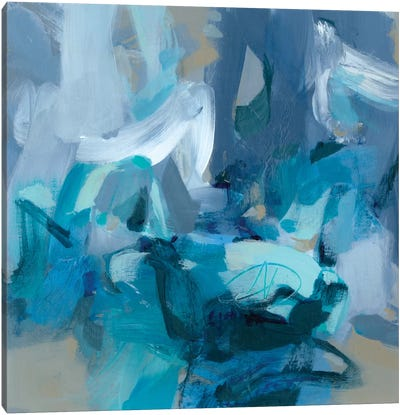 Abstract Blues II Canvas Art Print