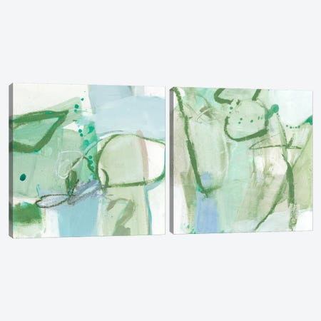 Olive Diptych Canvas Print Set #CLO2HSET001} by Christina Long Canvas Print