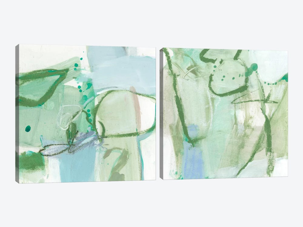 Olive Diptych by Christina Long 2-piece Canvas Art